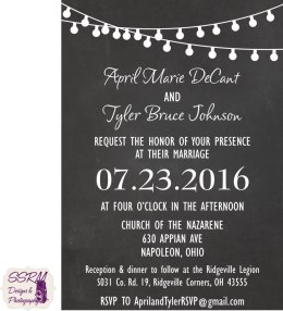 Decant & Johnson Wedding Invite