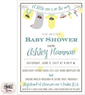 Christine Wheeler Baby Shower Invitation 2017