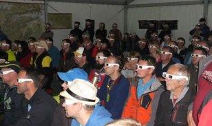 Účastníci 58. jaskyniarskeho týždňa SSS v Aggteleku pri prednáške