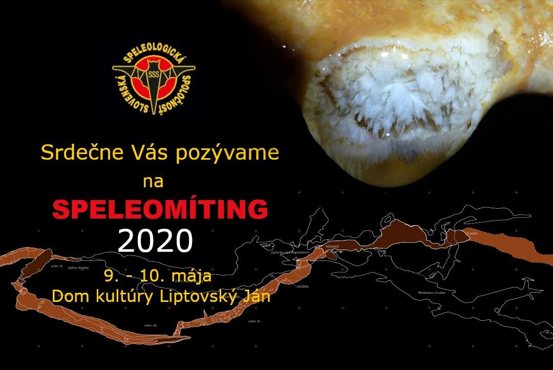 , Speleomíting 2020 pozvánka, Slovenská speleologická spoločnosť, Slovenská speleologická spoločnosť