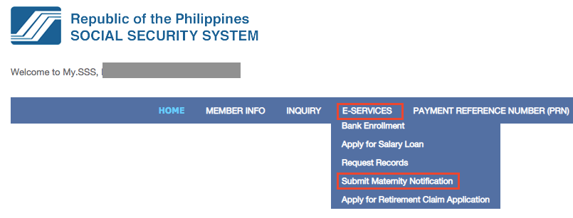 How to submit Maternity Notification via the SSS website (My.SSS)