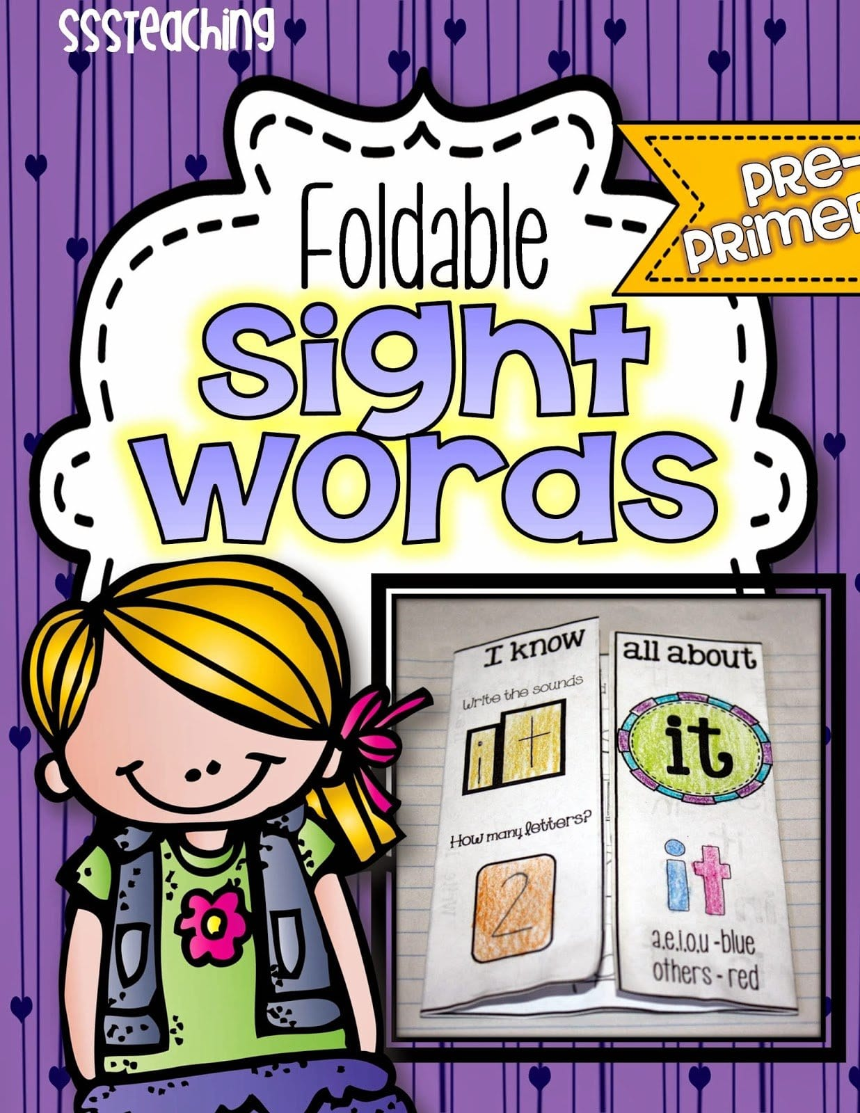 Interactive Foldable Sight Words Pre Primer
