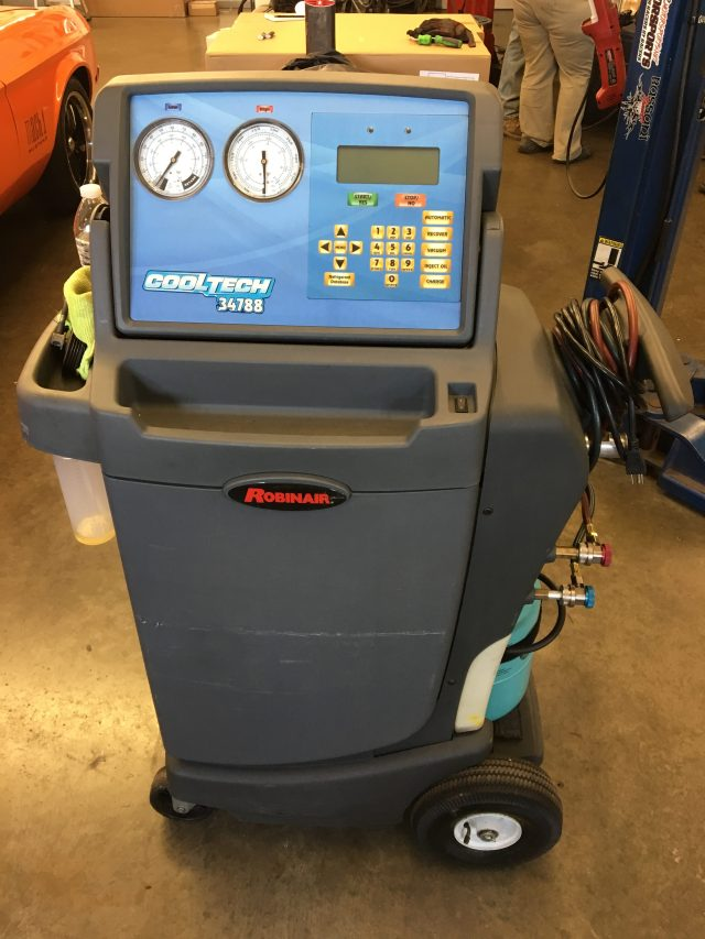 HVAC recovery machine