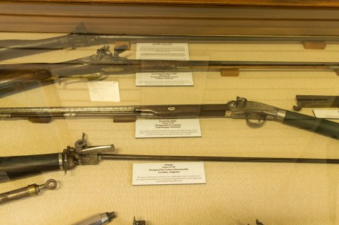Historic air rifles.