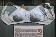Hiding money in a bra!