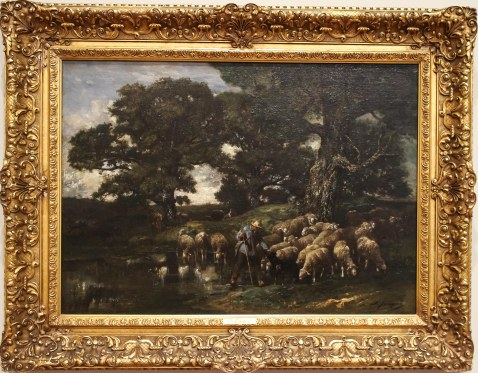Shepherd and His Flock, Charles Jacque.