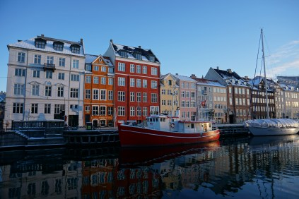 Nyhavn on a cold morning