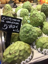 """cherimoya."" we weren't sure what it was, so we took a photo to google later"