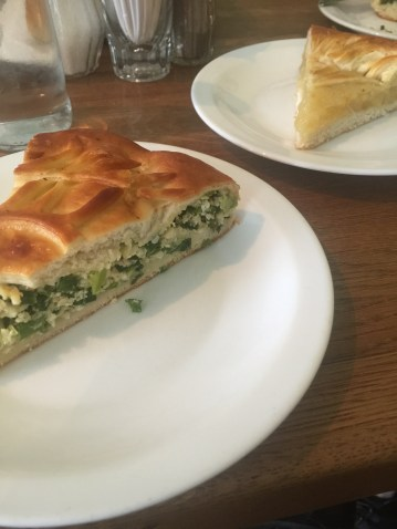 green onion + egg tart and lemon tart