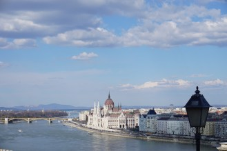 Parliament from the Buda castle