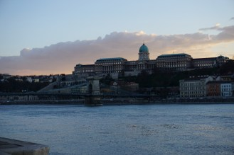 View of Buda castle from Parliament