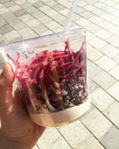from 7/11!! hummus, chicken, quinoa, beets