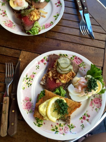 or open faced smørrebrød