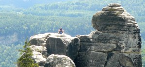 sitting alone in Saxon Switzerland