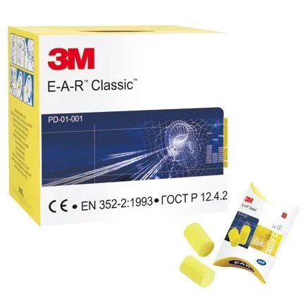 3M Ear Classic Foam Ear Plugs - Box Of 250 is the must have if you work in loud environments. Great value, but high quality earplugs.