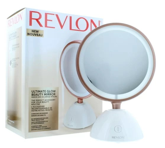 This Revlon Ultimate Glow LED cosmetic mirror can be placed on your beauty desk and easily moved around. This mirror perfect for every beauty lover, it also has a very stylish design.