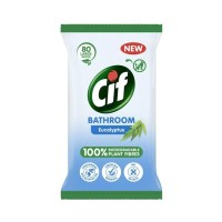 Cif Biodegradable Eucalyptus Bathroom Wipes 80 Pack