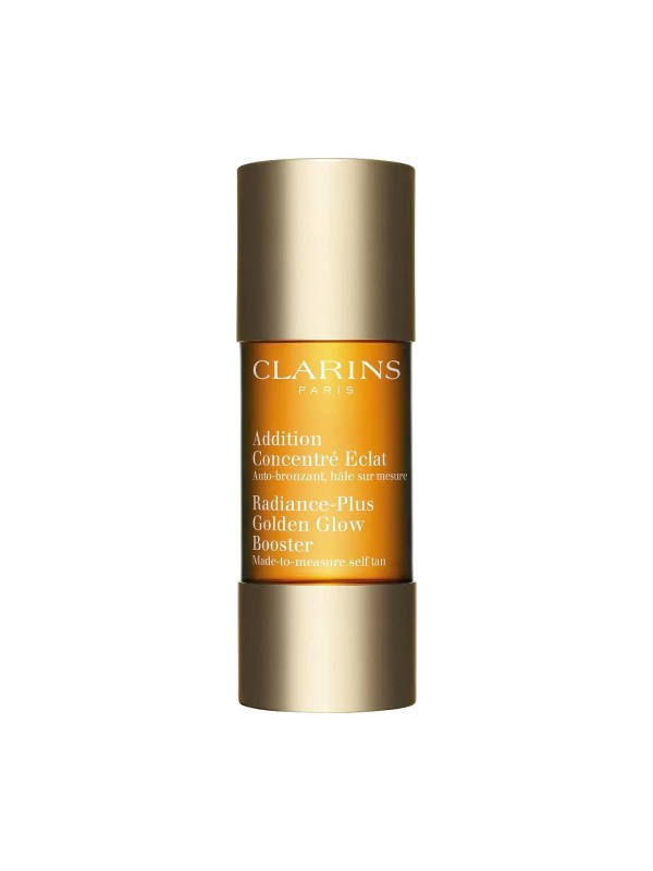 The Clarins Self Tanning Radiance Booster 15ml is a natural formula that provides all the benefits of a self tanner without all the negatives! Its high precision dosage works with any day or night cream to deliver fantastic results. This is a must have to have in your make up bag.