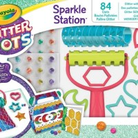 Crayola Glitter Dots Station offers your little child a fun, glitter play session but with far less in a less mess to clean up!