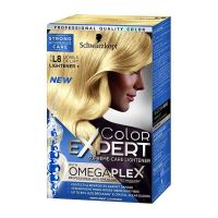 Schwarzkopf Omegaplex L8 Colour Expert Hair Dye is Schwarzkopf's first permanent home hair colour, which strengthens Micro Bonds within each hair fibre, during and after colouring.