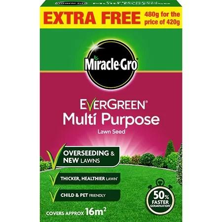 Evergreen Multi Purpose Grass Seed 480g