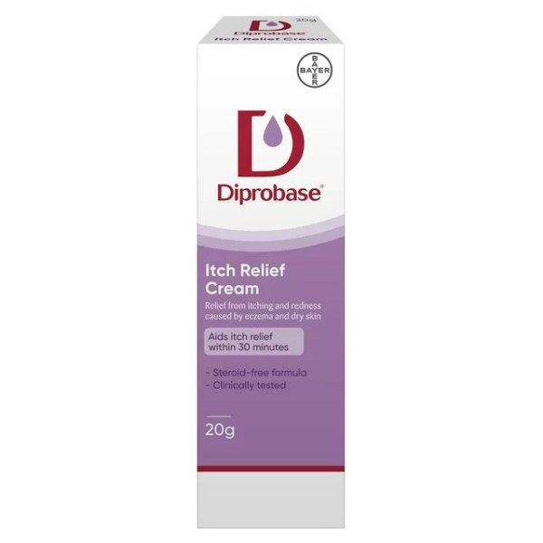 Relief from itching and redness caused by eczema and dry skin Aids itch relief within 30 minutes