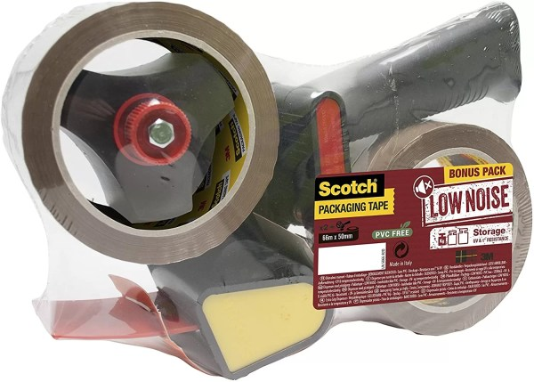 3M Scotch Heavy Duty Pistol Grip Dispenser Includes 2 Rolls Of Heavy Duty Packaging Tape Perfect For Moving House, Packing Boxes, Warehouses and Fulfilment Centres