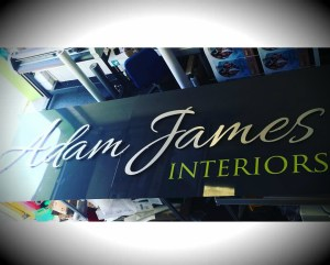 Adam James Interiors Stand Off Lettering
