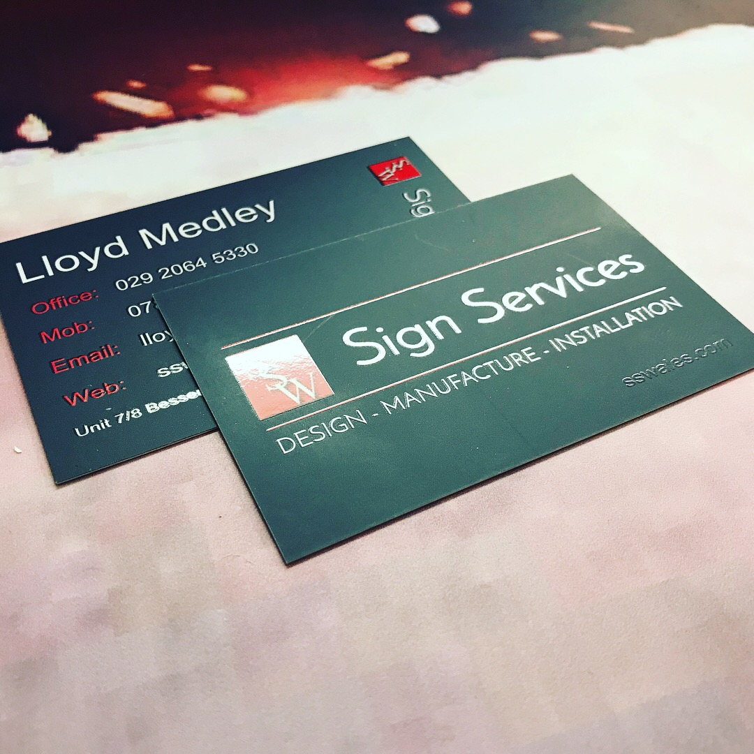 Business cards printed Cardiff - Sign Services | Sign & Print by ...