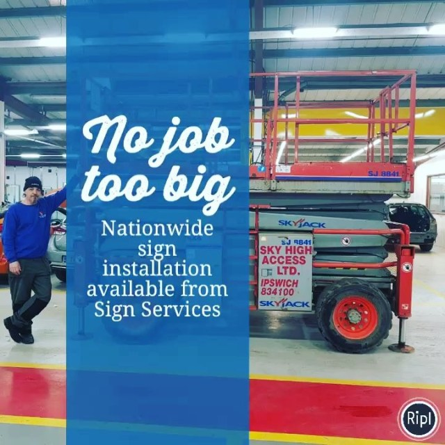 We don't just produce signs! From vinyl installation to sign fitting and much more, we offer nationwide installation by our extensive network of experienced professional fitters. No job too big for Sign Services (Wales) Ltd