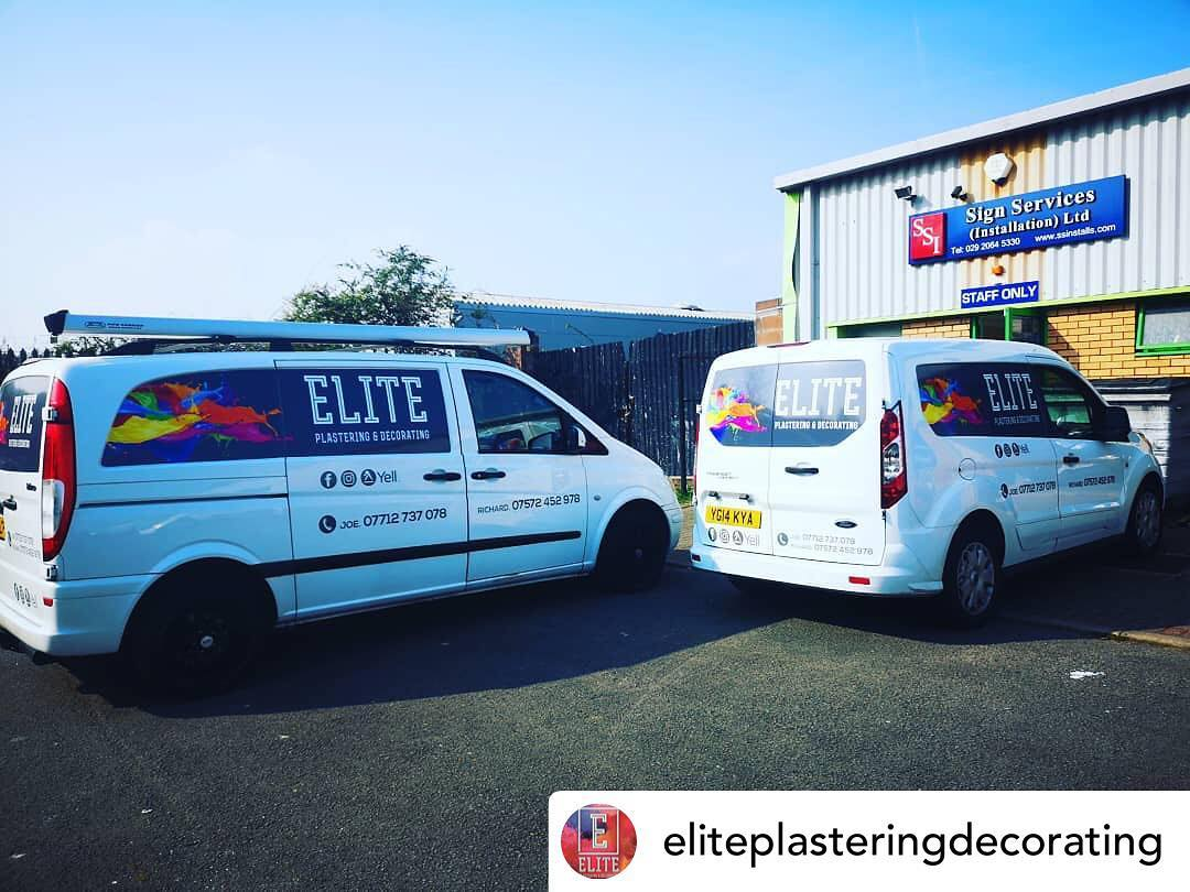 Posted @withrepost • @eliteplasteringdecorating Great service by @sign_services. Highly recommended thank you boys!