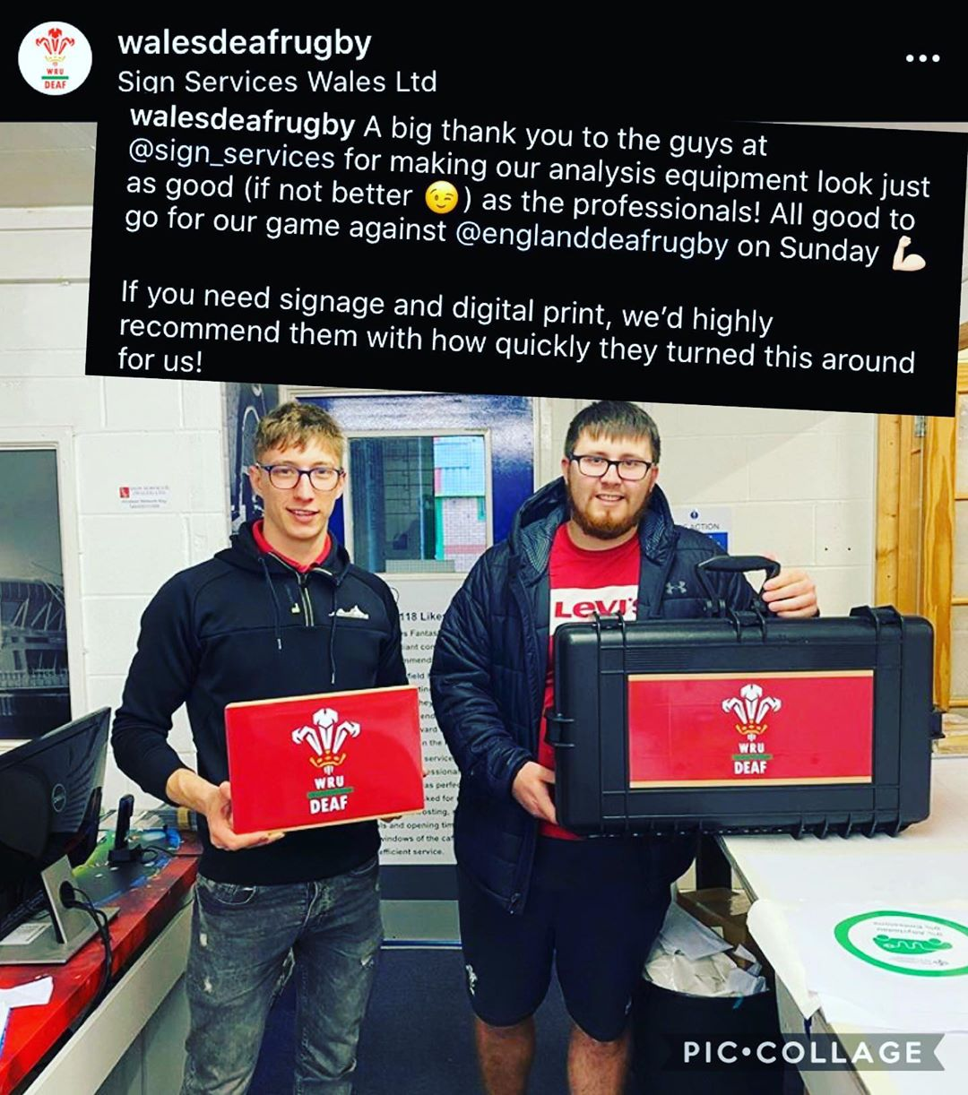 Laptop skins and equipment branding sullied for WRU deaf team 🏴