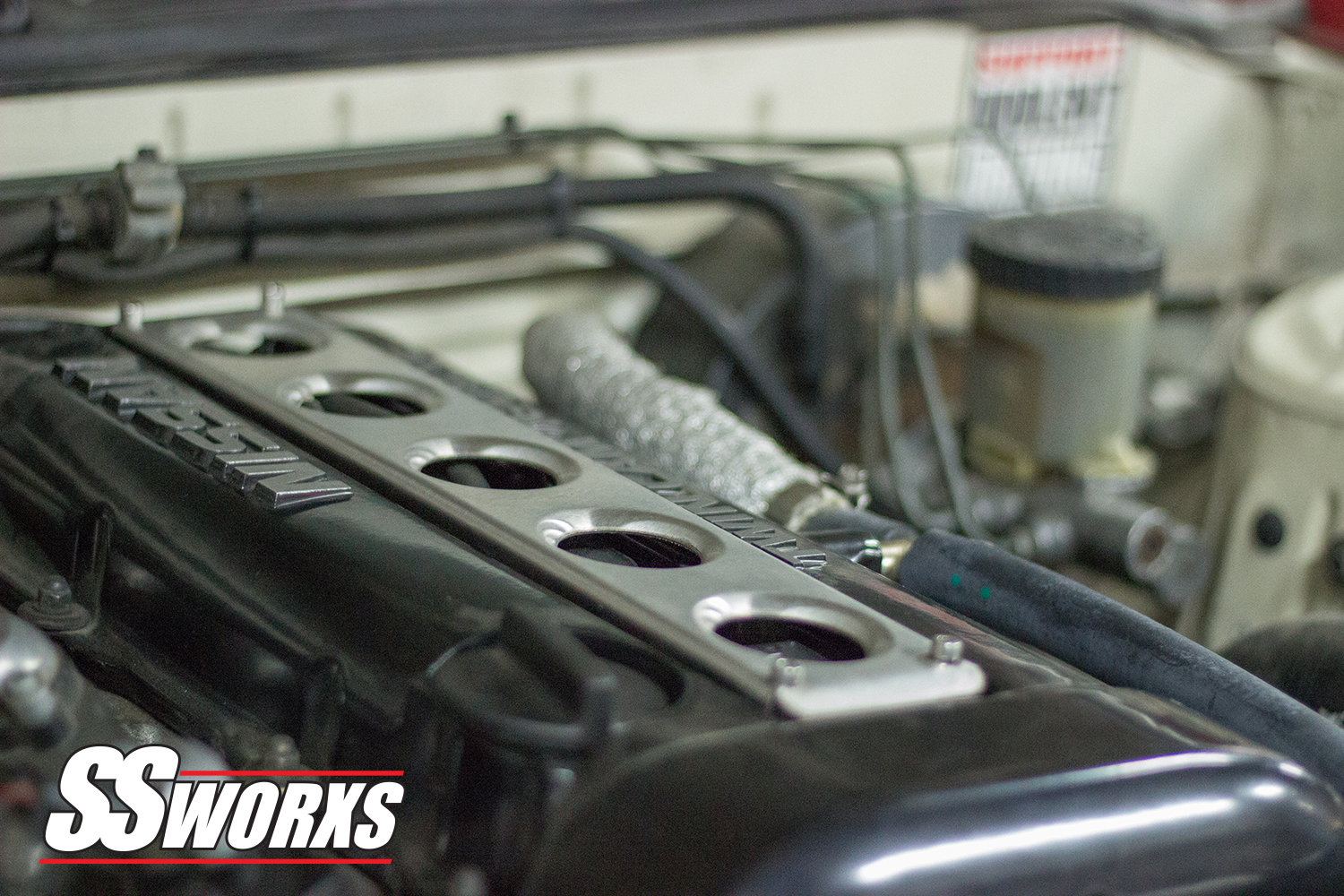 SSworxs Nissan SR20DET Coil Pack Cover DIMPLE DIE Metal Now available in a  burnt Titanium!