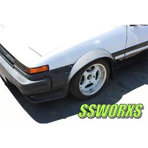 SSworxs AE86 Toyota Corolla Kyusha Metal Fender Flares