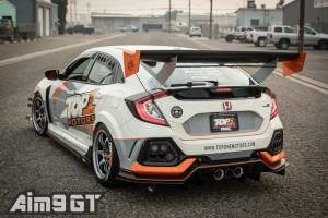 Aim9 GT Wing Stands FK8 Honda Civic Type R