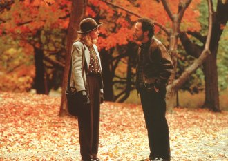 9. Sally Albright and Harry Burns, When Harry Met Sally… (1989) Wagon wheel coffee tables and angst are enduringly appealing. Nora Ephron's script and its stars probably help.