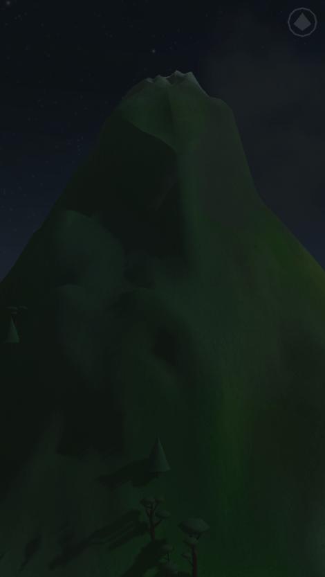 Mein Berg bei Nacht.