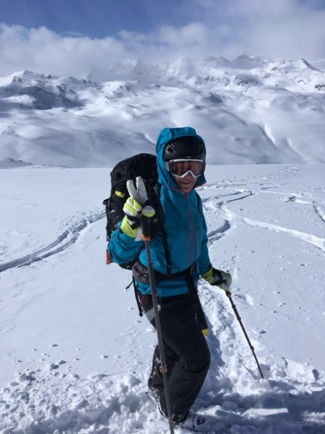 Tanja Bindschädel auf Skihochtour im Schnee
