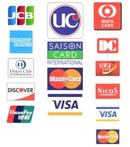 クレジットカード取扱ブランド