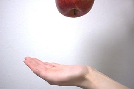 リンゴが落ちる