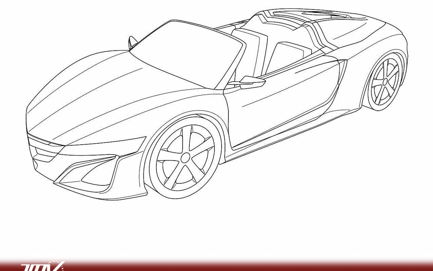 Spyder Spied Acura Nsx Roadster Sketches Found In Patent