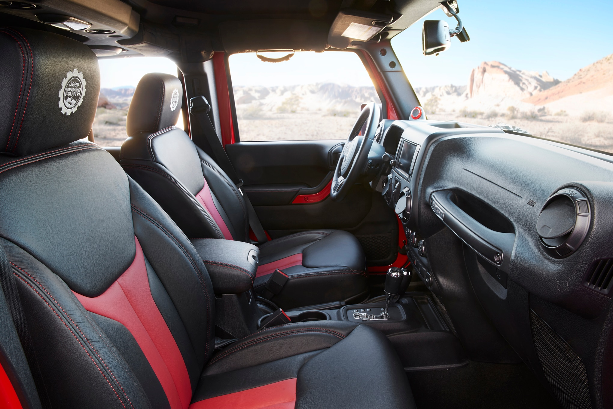 Jeep Red Interior