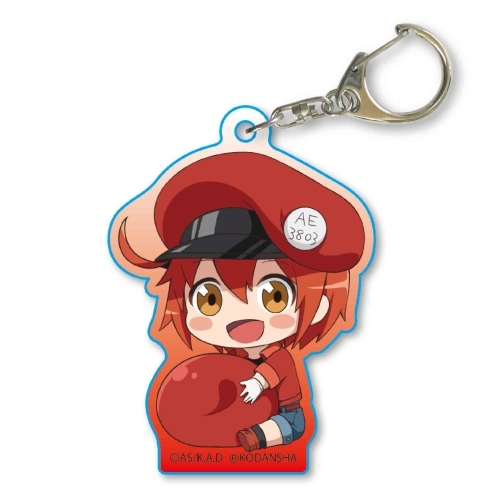 Gyugyutto Acryl Key Chain Cells at Work! Erythrocite / Red Blood Cell
