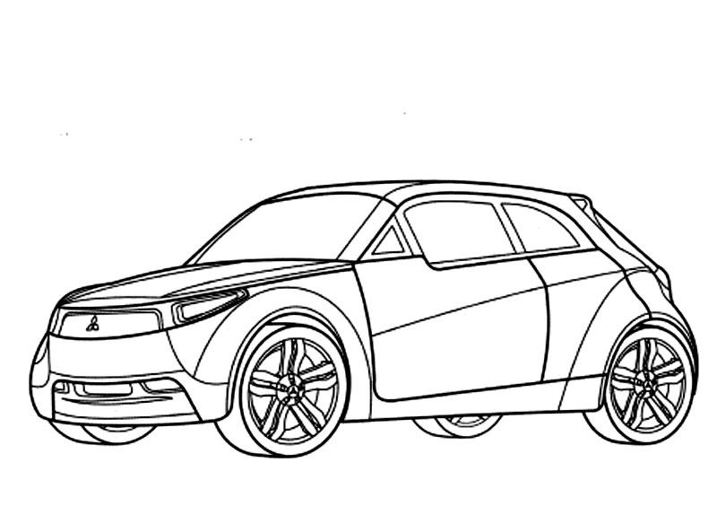 Plansa De Colorat Cu O Masina Mitsubishi