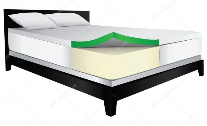 Bed Therapeutic Mattress Stock Vector 38569915