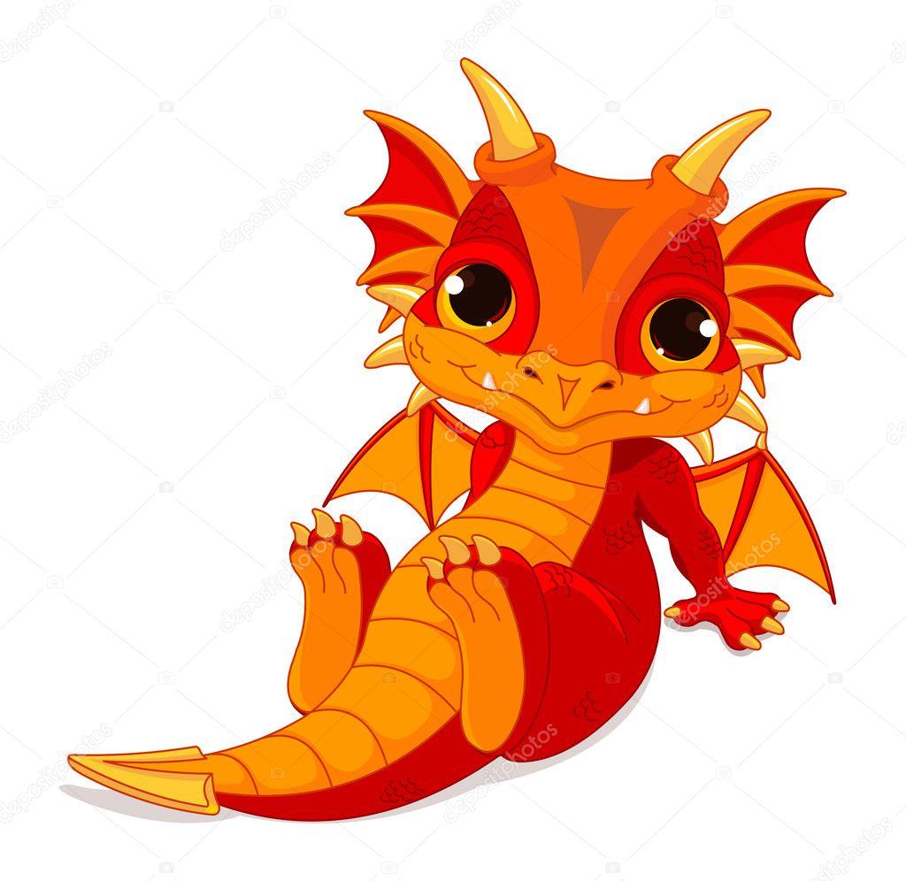 Cute Cartoon Baby Dragon Stock Vector C Dazdraperma 46919489