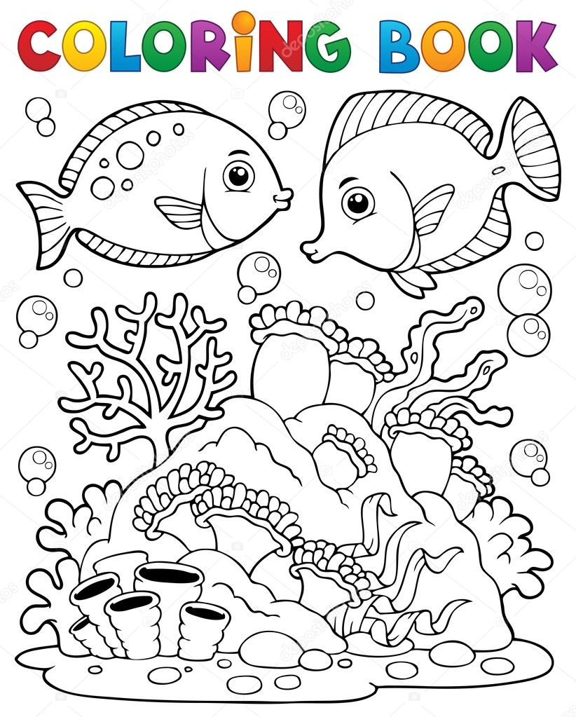 coral reef animals coloring pages cooloring com