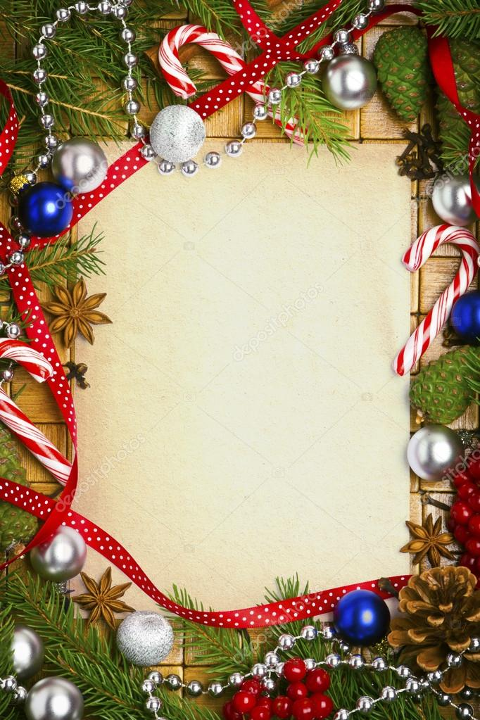 Beautiful Blank Card For Christmas Greetings With