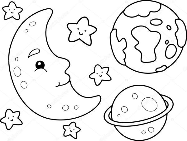 space coloring page # 17