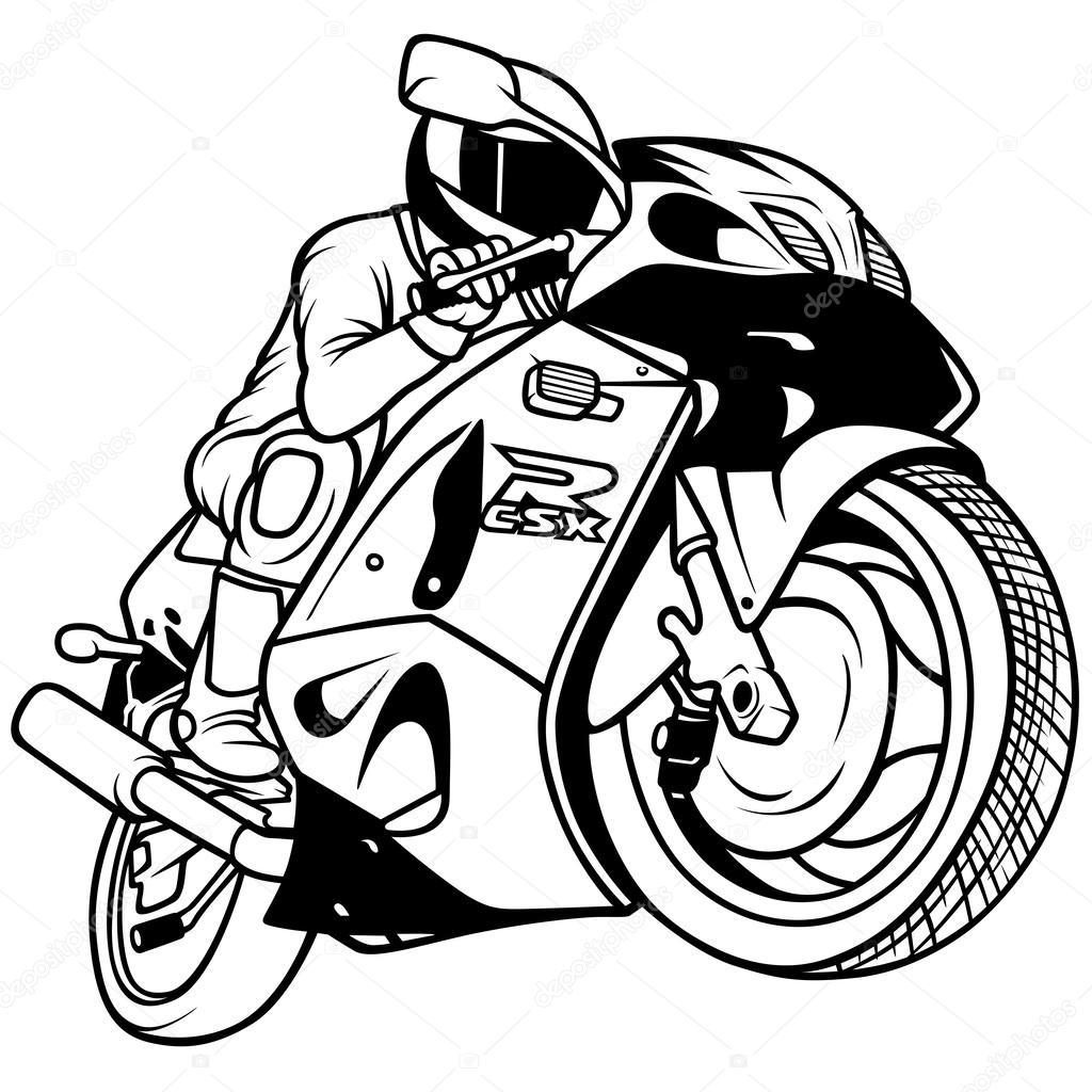Vector Motos De Carreras